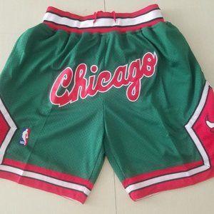 New NBA Just Don Chicago Bulls Basketball Shorts